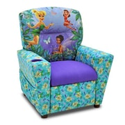 KidzWorld Disney's Fairies Kids Recliner w/ Cup Holder