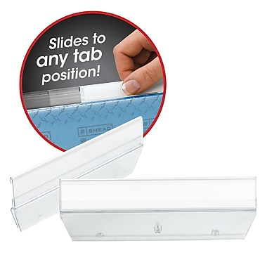 Smead® Easy Slide Tab, 1/3-Cut, Clear, 18/Pack (64626)