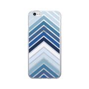 OTM Prints Clear Phone Case, Arrows Blue - iPhone 6/6S Plus