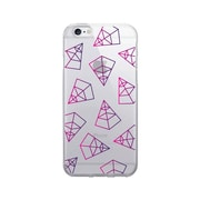 OTM Prints Clear Phone Case, Pyramids Pink & Purple - iPhone 6/6S Plus