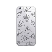 OTM Prints Clear Phone Case, Pyramids Black - iPhone 6/6S