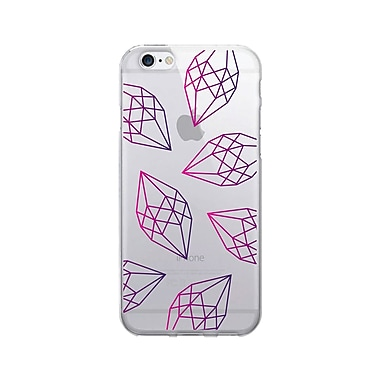 OTM Prints Clear Phone Case, Diamonds Pink & Purple, iPhone 7/7S (OP-IP7V1CG-A02-72)