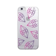 OTM Prints Clear Phone Case, Diamonds Pink & Purple - iPhone 6/6S Plus