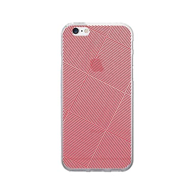 OTM Prints Clear Phone Case, Line Dance Red - iPhone 6/6S Plus