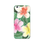 OTM  Prints Clear Phone Case, Hibiscus Trio Green, iPhone 7/7S (OP-IP7V1CG-A-46)