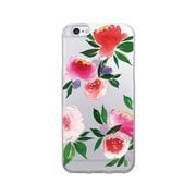 OTM Prints Clear Phone Case, Bountiful Peonies Red & Green, iPhone 7/7S (OP-IP7V1CG-A-53)