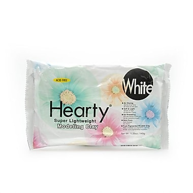 Hearty® Super Lightweight Clay, 5.25 oz, White