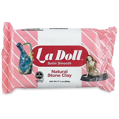 La Doll® Natural Stone Clay, 17.5 oz, White