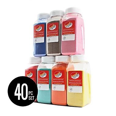Sandtastik® Complete Classic Coloured Sand 28 oz Bottle Set (40-Pcs)