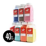 Sandtastik® – Sable coloré, collection classique complète, ensemble de 40 bouteilles de 24 oz (CS24SET)