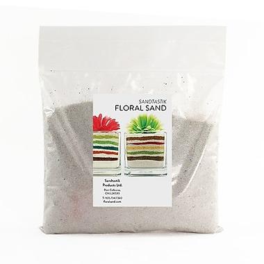 Sandtastik® Floral Coloured Sand, 2 lb (909 g) Bag, Light Silver, 12/Pack