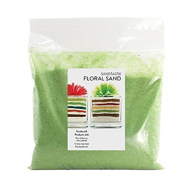 Sandtastik® Floral Coloured Sand, 2 lb (909 g) Bag, Citrus Lime