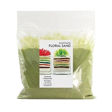 Sandtastik® Floral Coloured Sand, 2 lb (909 g) Bag, Cress Green