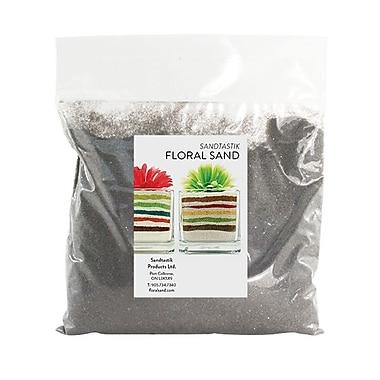 Sandtastik® Floral Coloured Sand, 2 lb (909 g) Bag, Dark Grey, 12/Pack