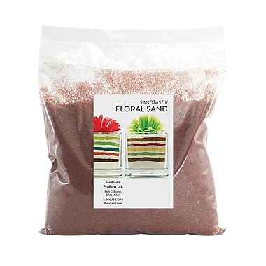 Sandtastik Floral Coloured Sand, 2 lb (909 g) Bag, Marsala, 12/Pack
