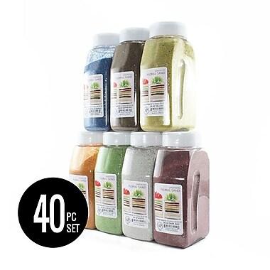 Sandtastik® Complete Floral Coloured Sand 28 oz Bottle Set (40-Pcs)
