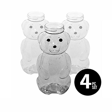 Sandtastik® Honey Bear Sand Art Bottles, 4-Piece Set, 10/Pack