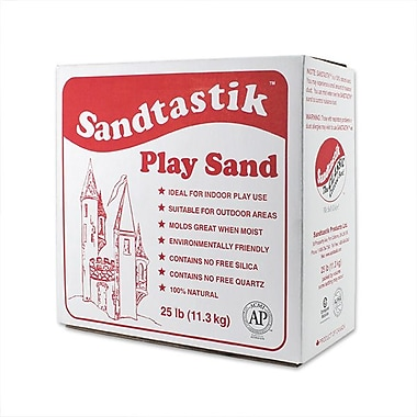 Sandtastik® Play Sand, Sparkling Natural White, 25 lb