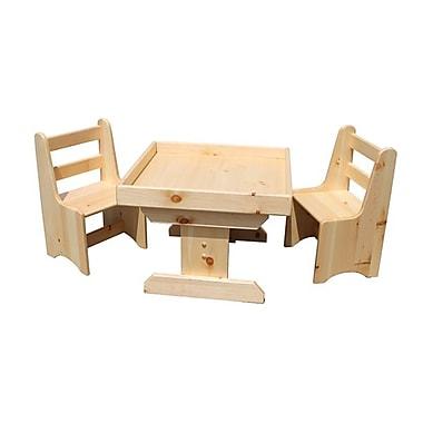 SandtastikMD – Ensemble 3 pièces de table de sable et chaises