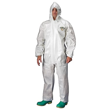 Lakeland Coverall Chemmax 2 Hooded White Elast 2X, 2/Pack (C72132-2XL)