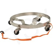"Vestil Multi-Tier Drum Dollies, Frame Material: Stainless Steel, Diameter: 23-1/2"" (DRUM-QUAD-CS-SS)"