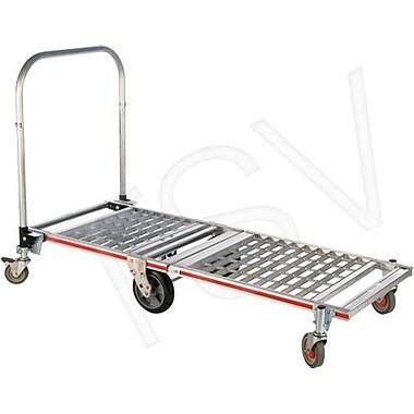 Magliner® Six Wheel Aluminum Folding Platform Truck, Deck Width: 23-1/4
