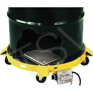 Expo Engineering – Chariot chauffant pour barils, cadre en aluminium, plateforme de 24 larg. x 24 long. (po) (HDD-55 240V)