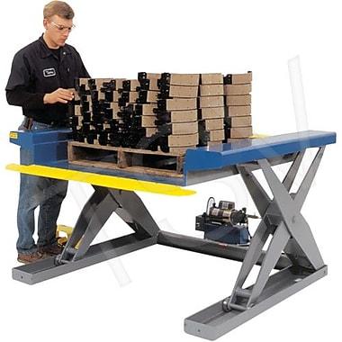 Southworth – Tables élév. hydr. à ciseaux près du sol, dim. platef. : 50 larg. x 48 long. (po), haut. abaissée : 0,375 po (ZLS4)