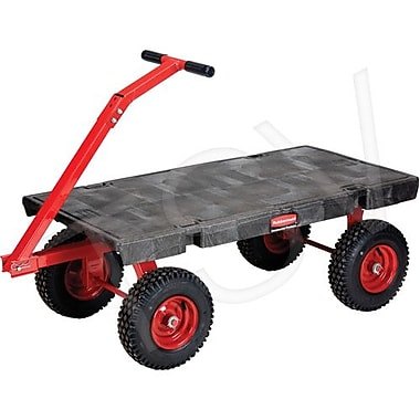 Rubbermaid 5Th Wheel Wagon Trucks, Deck Width: 24