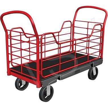 Rubbermaid – Chariots à plateforme avec panneaux latéraux, Largeur de la plateforme : 24 po, capacité : 1000 lb (FG448400BLA)