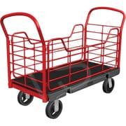 Rubbermaid – Chariots à plateforme avec panneaux latéraux, Largeur de la plateforme : 24 po, capacité : 2000 lb (FG448600BLA)