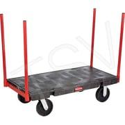 Rubbermaid – Chariots à plateforme avec colonnes, Largeur de la plateforme : 24 po, capacité : 2500 lb (FG448200BLA)