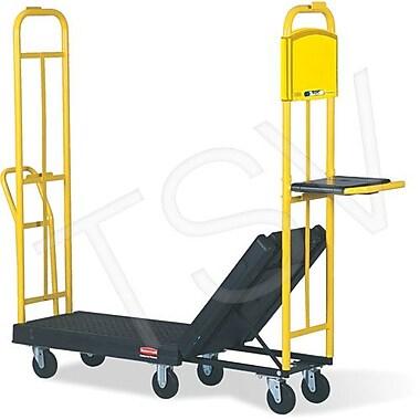 Rubbermaid – Chariot en U à plateforme StockMate, plateforme 19 1/4 po larg., poignée 42 po haut, capacité 1800 lb (FG9T5000BLA)