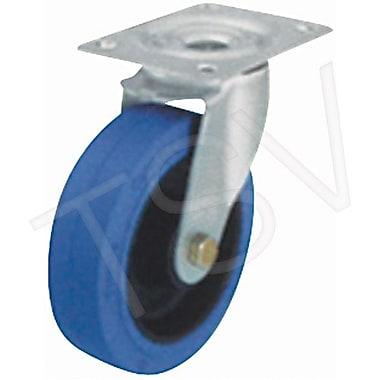 Blickle – Roulette en caoutchouc élastique bleu, capacité de 250 lb. (113 kg), 2/paquet (LE-POEV 80R-FI-SB)