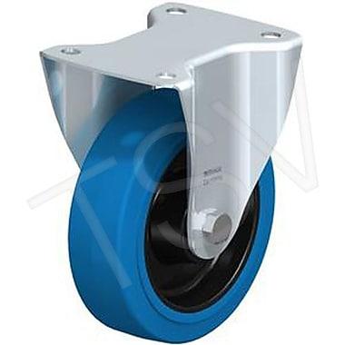 Blickle – Roulette en caoutchouc dur, diamètre : 7 7/8 po (200,025 mm), type : pivotante avec frein (LE-POEV 200R-FI-SB)