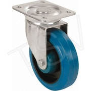 Blickle – Roulette en caoutchouc non marquante, Diamètre de roue : 5 po (127 mm), Type de roulette : pivotante (LK-PO 125R)
