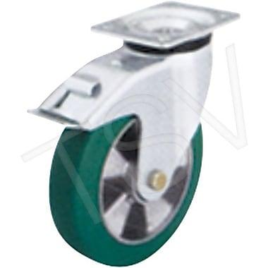 Blickle – Roulettes pivotantes avec frein Softhane, gamme moyenne, diamètre de 5 po (127 mm) (LK-ALST 100K-1-FI)