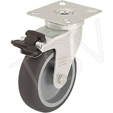 Blickle – Roulette en thermoplastique, diamètre : 5 po (127 mm), type : pivotante avec frein, 2/paquet (LKPA-TPA 126K-FI-FK)