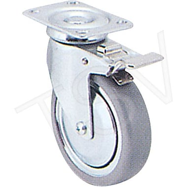 Colson Zinc Plated Caster, Wheel Diameter: 4