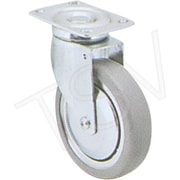"Colson Zinc Plated Caster, Wheel Diameter: 5"" (127 Mm), Caster Type: Swivel, Wheel Material: Grey Rubber (Y581-SGB-TP)"