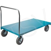 Kleton – Chariot à plat. robuste, larg. de plat. de 48 po, haut. de poignée de 42 po, plat. en acier