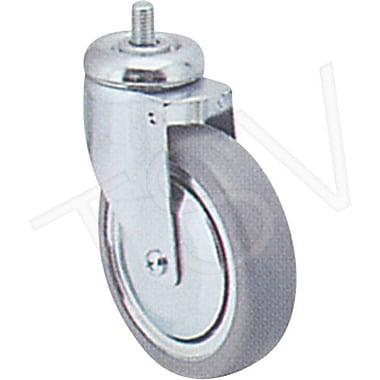 Colson – Roulette zinguée, diamètre de roue : 6 po (152 mm), roulette : pivotante, matériau : caoutchouc gris (Y681-PGB-ST)