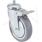 "Colson Zinc Plated Caster, Wheel Diameter: 6"" (152 Mm), Caster Type: Swivel w/Brake (Y680T-ECB-ST)"