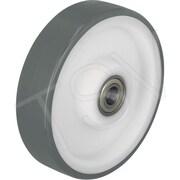 Bickle – Roues polyuréthane thermoplastique, diamètre : 6 29/100 po (160 mm), taille du trou : 787/1000 po (POTH 160/20R)