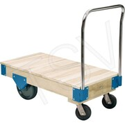 "Kleton Platform Trucks - All Wood Deck Platform Trucks, Deck Width: 30"", Handle Height: 44"", Capacity: 3000 Lbs."