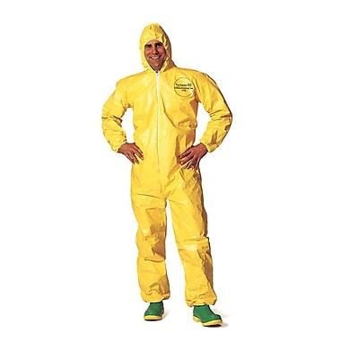 Dupont Personal Protection Coverall Tychem Qc Hood Serged Seam Yellow 4XL, 6/Pack (QC127S-4X)