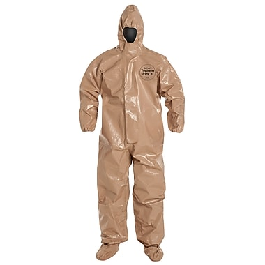 Dupont Personal Protection Coverall Tychem® CPF3 Elastic Wrist, X-Large (C3128T-XL)