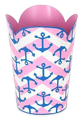 Jayes Choppy Seas Waste Basket; Pink/Blue