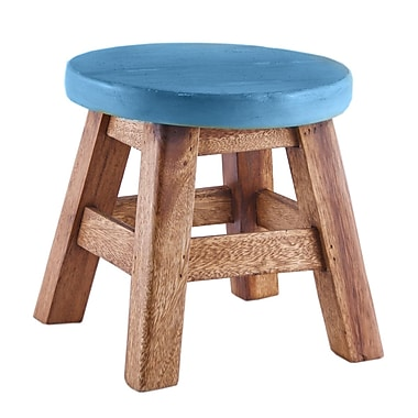 Home Essentials and Beyond Walnut Stool