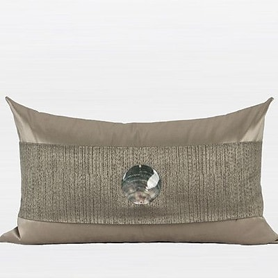 G Home Collection Round Shell Splicing Lumbar Pillow